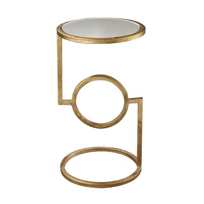 Reiban End Table Finish: Gold