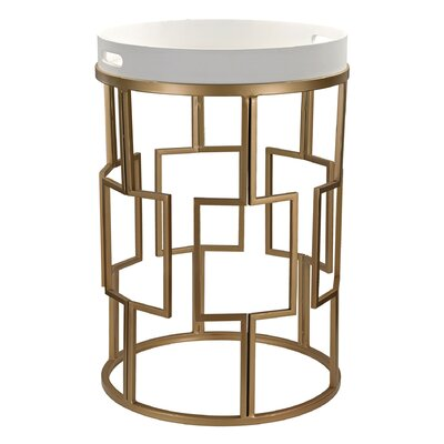 Shauna Contemporary Round End Table