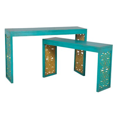 Ampthill 2 Piece Console Table Set