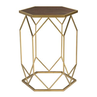 Rivero Hexagon Frame End Table