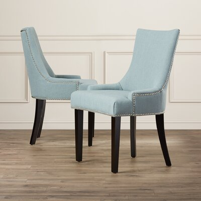 Carraway 36.4 Side Chair Upholstery: Fabric - Sky Blue