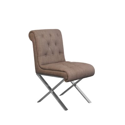 Winchester Side Chair Upholstery: Brown