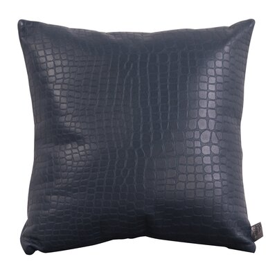 Adrastus Gator Throw Pillow Size: 16 H x 16 W, Color: Indigo