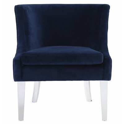 Henriques Velvet Barrel Chair Upholstery: Blue