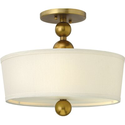 Shaw 3-Light Metal Semi Flush Mount Finish: Vintage Brass