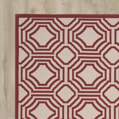Rabia Red/Cream Indoor/Outdoor Area Rug