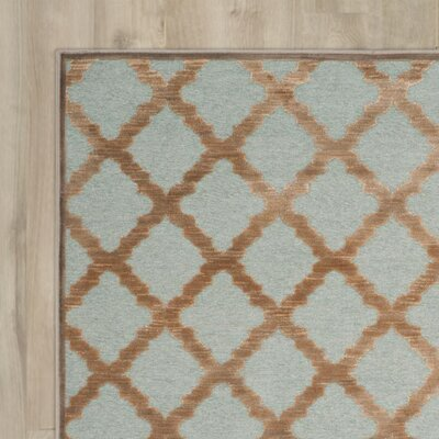 Goetz Blue/Brown Area Rug Rug Size: Runner 22 x 8