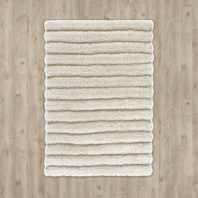 Wyler Hand-Tufted Pearl Area Rug Rug Size: 9 x 12
