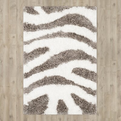 Hempstead Hand Tufted White/Gray Area Rug Rug Size: Rectangle 6 x 9
