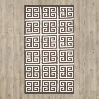 Romero Hand-Woven Brown/Ivory Area Rug Rug Size: Rectangle 5 x 8