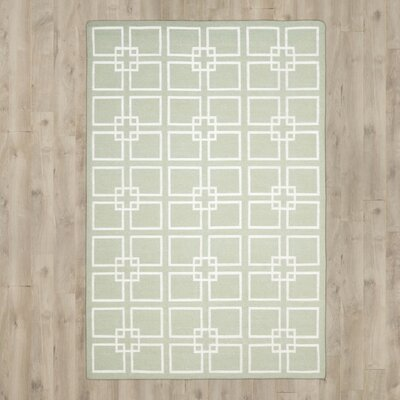Dance Hand-Tufted Fennel Seed Green Area Rug Rug Size: 5 x 8