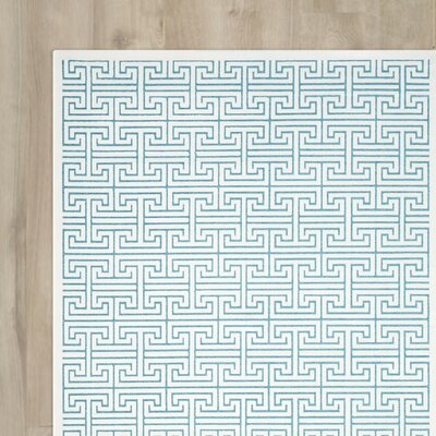 Maspeth Ivory/Turquoise Area Rug Rug Size: Rectangle 4 x 6