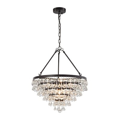 Hayward 6-Light Crystal Chandelier Bulb Type: 60W Incandescent
