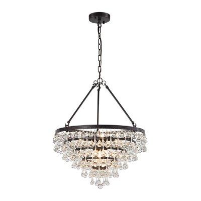 Hayward 6-Light Crystal Chandelier Bulb Type: 60W Incandescent
