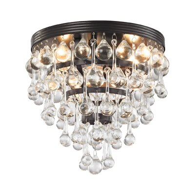 Hayward 3-Light Semi Flush Mount Bulb Type: 60W Incandescent