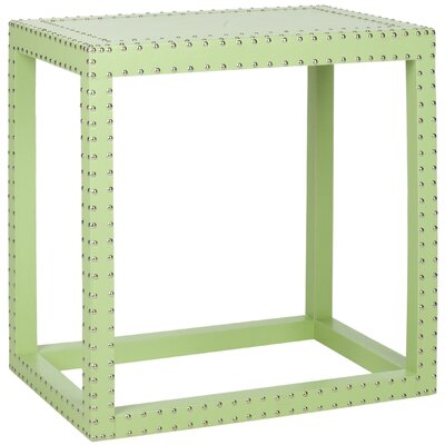 Nicollette End Table Color: Light Green