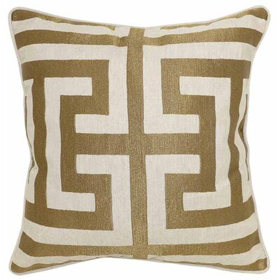 Burford Cotton/Linen Throw Pillow Color: Bronze