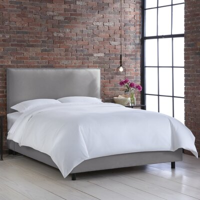 Faisan Upholstered Panel Bed Color: Klein Dove, Size: King