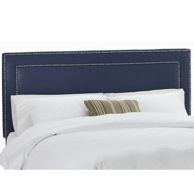 Waco Nail Button Upholstered Panel Headboard Size: Queen, Upholstery: Klein Midnight
