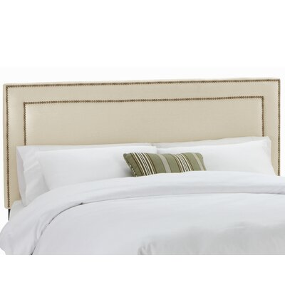 Waco Nail Button Upholstered Panel Headboard Upholstery: Klein Ivory, Size: Full
