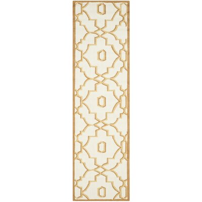 Maeve Ivory/Tan Indoor/Outdoor Area Rug Rug Size: Runner 23 x 8