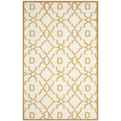 Maeve Ivory/Tan Indoor/Outdoor Area Rug Rug Size: Rectangle 5 x 8
