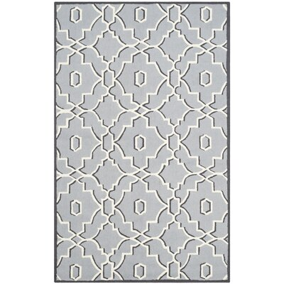 East Helena Gray/Ivory Indoor/Outdoor Area Rug Rug Size: 5 x 8