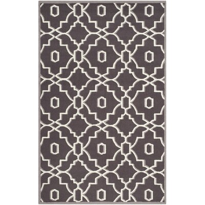 Dwight Dark Gray/Ivory Indoor/Outdoor Area Rug Rug Size: Rectangle 5 x 8