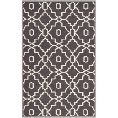 Dwight Dark Gray/Ivory Indoor/Outdoor Area Rug Rug Size: 5 x 8
