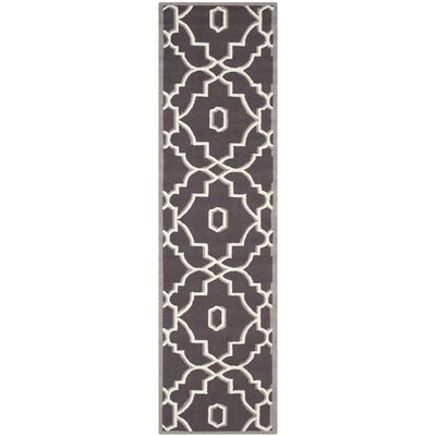 Dwight Dark Gray/Ivory Indoor/Outdoor Area Rug Rug Size: Runner 23 x 8