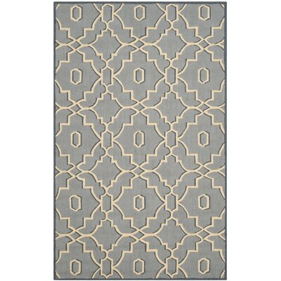 Kuna Light Blue/Ivory Indoor/Outdoor Area Rug Rug Size: Rectangle 36 x 56