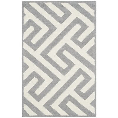 Daniella Ivory/Gray Indoor/Outdoor Area Rug Rug Size: Rectangle 36 x 56