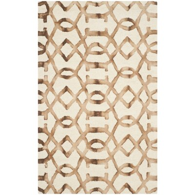 Owen Ivory/Camel Area Rug Rug Size: Rectangle 3 x 5
