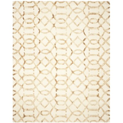 Owen Ivory/Camel Area Rug Rug Size: Rectangle 8 x 10