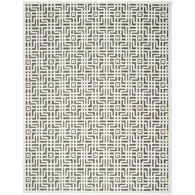Emst Ivory/Dark Gray Area Rug Rug Size: Rectangle 8 x 10