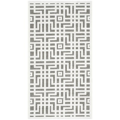 Emst Ivory/Dark Gray Area Rug Rug Size: Rectangle 2'3