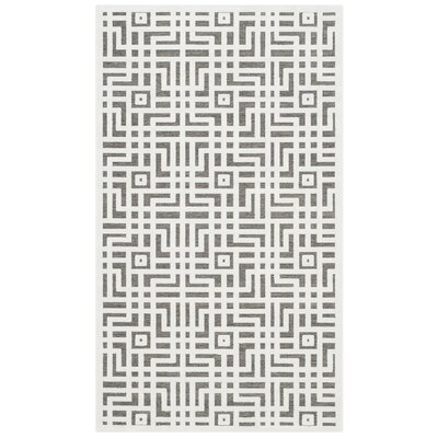 Emst Ivory/Dark Gray Area Rug Rug Size: Rectangle 3 x 5