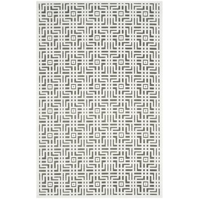 Emst Ivory/Dark Gray Area Rug Rug Size: Rectangle 51 x 76