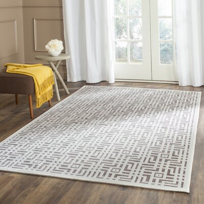 Emst Ivory/Dark Gray Area Rug Rug Size: Rectangle 4 x 6