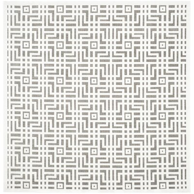 Emst Ivory/Dark Gray Area Rug Rug Size: Square 67