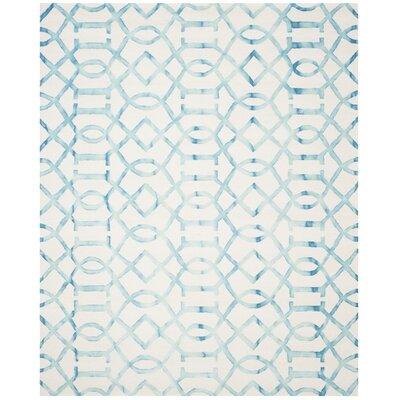 Braylee Ivory/Turquoise Area Rug Rug Size: 8 x 10