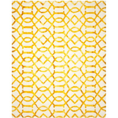 Sinclair Ivory/Gold Area Rug Rug Size: Rectangle 8 x 10