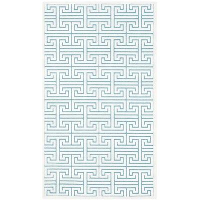 Maspeth Ivory/Turquoise Area Rug Rug Size: Rectangle 3 x 5