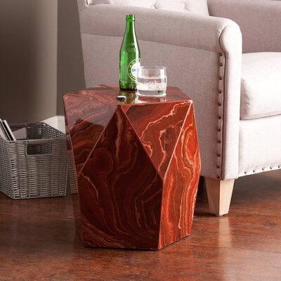 Brooklet Side Table Finish: Red Marble