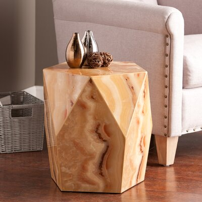 Brooklet Side Table Finish: Tan Marble
