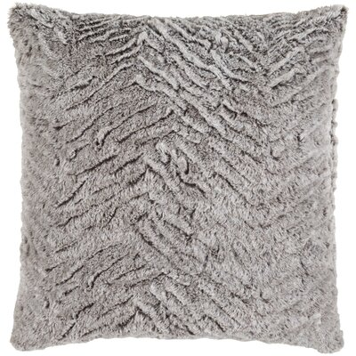 Fabrizio Throw Pillow Size: 20 H x 20 W x 4 D, Color: Light Gray/Ivory
