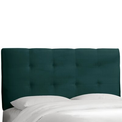 Evonne Upholstered Panel Headboard Upholstery: Mystere Peacock, Size: Queen