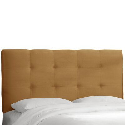Evonne Upholstered Panel Headboard Upholstery: Mystere Moccasin, Size: California King