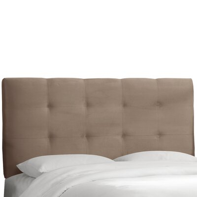 Evonne Upholstered Panel Headboard Upholstery: Mystere Mondo, Size: California King