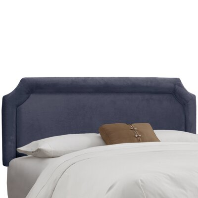 Amber Upholstered Panel Headboard Upholstery: Premier Lazuli Blue, Size: California King